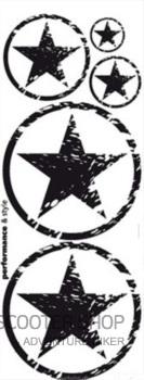 Dekorativní polep na skútr 1110x420mm (černý)