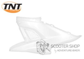 Boční plast levý TNT TUNING pro skútr MBK NITRO / YAMAHA AEROX - bílý - 366789H