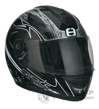 Integrální helma Speeds Race Grafik stříbrná