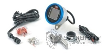 Digitální tachometr na skútr TNT, modrý