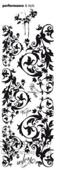 Dekorativní polep na skútr ORNAMENTY 1170x370mm (černá)