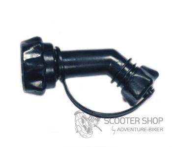 Nálevka pro moto kanystr 1/1,5L černá krátká
