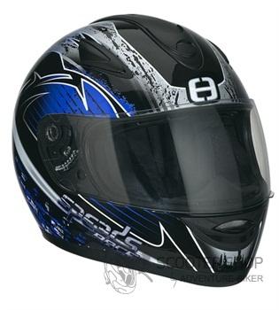 Přidat obrázek - Integrální helma Speeds Race Grafik stříbrná / modrá
