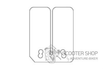 Jazýčkový ventil - karbonové štítky MALOSSI 0,30-0,35-0,40mm pro Minarelli AM6 - 2712430.C0