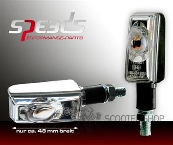 Homologované LED blinkry chrom pro použítí jako přední a zadní blikače