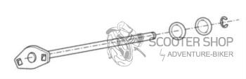 Čep stojanu BUZZETTI pro hlavní stojan MINARELLI - 7802