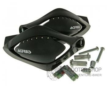 Chrániče páček Acerbis Scooter Flash (LED) černý - univerzální