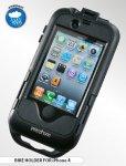 CellularLine Interphone - voděodolný držák/pouzdro na řídítka pro iPhone 4