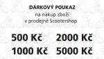 Dárkový poukaz na nákup zboží v prodejně Scootershop v hodnotě 3000,- Kč