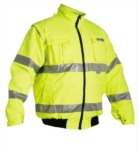 Reflexní bunda na moto - skútr CLOVELY M - XXXL