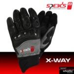 Rukavice na skútr letní SPEEDS X-way Lady (dámské) černo/šedé - 8 velikostí