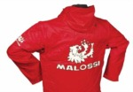 Bunda s kapucí Malossi scooter červená