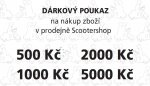 Dárkový poukaz na nákup zboží v prodejně Scootershop v hodnotě 3500,- Kč