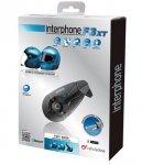 Bluetooth handsfree pro uzavřené a otevřené přilby CellularLine Interphone F3XT